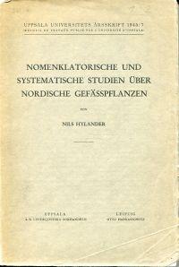 Nomenklatorische und systematische Studien über nordische Gefässpflanzen.