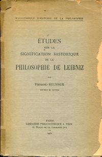 Études sur la signification historique de la philosophie de Leibniz.