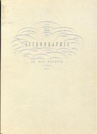 Die Lithographie in der Schweiz und die verwandten Techniken Tiefdruck, Lichtdruck, Chemigraphie. [Festschrift zum 50jährigen Bestehen des Vereins Schweizerischer Lithographiebesitzer, 1894 - 1944].
