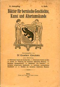 Blätter für bernische Geschichte, Kunst und Altertumskunde; II, 4/1906.