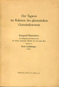 Der Tagwen im Rahmen des glarnerischen Gemeindewesens.