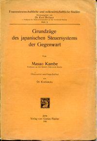 Grundzüge des japanischen Steuersystems der Gegenwart.